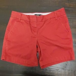 J Crew Chino Shorts Red Size 8